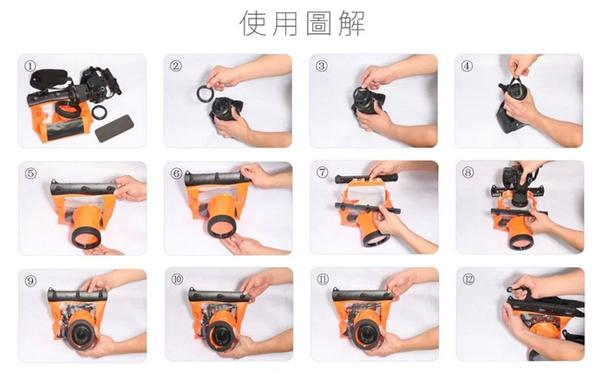 Kamera GQ-518L 相機防水袋 單眼 防水套 潛水袋 14cm鏡頭 Canon Nikon SONY Olympus Pentax Panasonic Sigma
