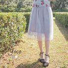 東京著衣【YOCO】自訂款唯美蕾絲網紗中...