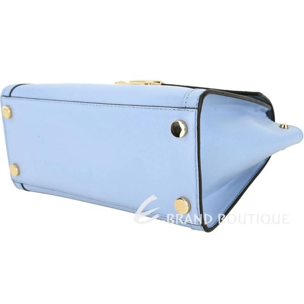 Michael Kors Whitney 中型 金色方釦兩用包(水藍色) 1910009-27