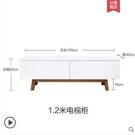 北歐小戶型客廳櫃現代簡約白色烤漆機櫃茶幾組合實木地櫃 星河光年DF