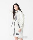 日本KIU 28908 白色 空氣感雨衣/時尚防水風衣 附收納袋(男女適用)