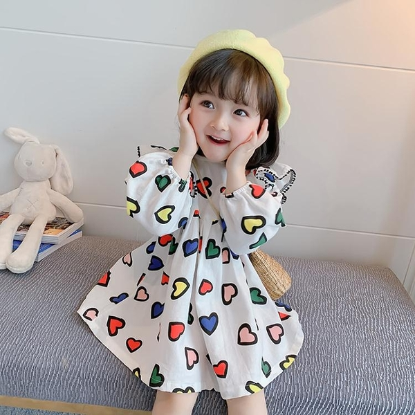 女童洋裝春季花朵兒童洋氣公主裙寶寶春秋款長袖裙子夏 印巷家居