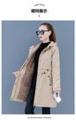 風衣 外套 上衣20021媽媽外套中長款加絨加厚風衣棉服中老女裝棉T103-B 胖妹大碼女裝