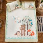 頂級網眼涼感卡通冰絲蓆 雙人加大三件組-狐狸與熊 (180X188cm) 涼蓆,冰涼墊