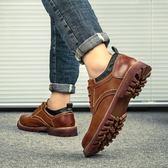 618大促 馬丁靴男短靴低筒韓版百搭英倫風學生馬丁鞋 百搭潮品