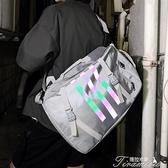 後背包-雙肩包男潮牌時尚潮流學生書包女韓版高中男士休閒大容量帆布背包 快速出貨