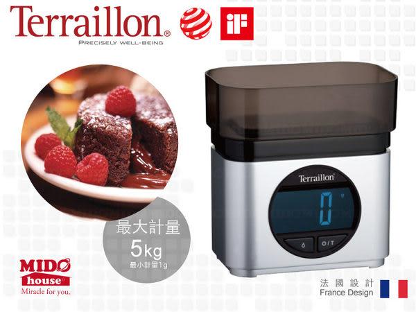 法國Terraillon 廚房直立式LED電子料理秤/磅秤(BA22MSV) (非商業交易用)《Mstore》
