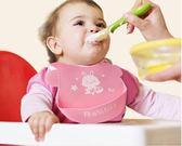 寶寶吃飯圍兜嬰兒口水圍兜新生兒童吃飯兜硅膠防水免洗超軟食飯兜 易貨居