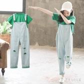 女童夏裝套裝2020新款短袖時尚兒童裝洋氣夏季中大童女孩時髦 yu12509『俏美人大尺碼』