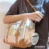 角落生物包包-卡通角落生物斜挎包痛包大包日系可愛軟妹創意透明公仔包單肩包包 多麗絲