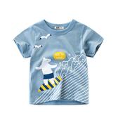 歐美風格男童短袖T恤-來衝浪囉(男童短袖上衣)
