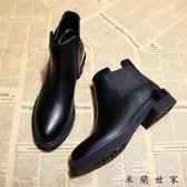 小靴子春天低跟短靴春女鞋子潮