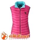 【Wildland 荒野 女款 700FP輕量羽絨背心 桃紅】 0A32171/連帽外套/羽絨外套/保暖外套