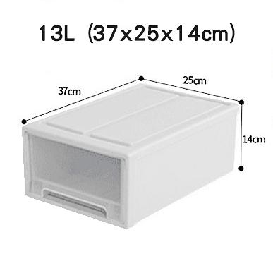 星星小舖  收納箱 组合 透明 抽屉 收納盒  IKEA 無印風 抽屜櫃 鞋子收納櫃 衣物整理盒 收納抽屜 13L