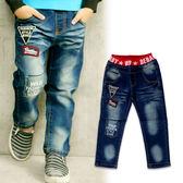 【錢豪童裝童鞋】英文標籤牛仔褲(85~125cm)