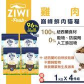 【SofyDOG】ZiwiPeak巔峰 96%鮮肉貓糧-放牧雞 (1KG)四件組