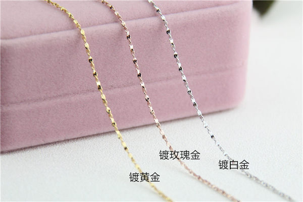 ╭☆ Silver shop ☆╯純銀 特價品 S925 項鍊 鎖骨鍊 單鍊 素銀 [ sn 001 ]