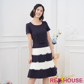 【RED HOUSE 蕾赫斯】蝴蝶結層次洋裝