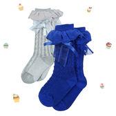 嬰幼兒襪套 / 蕾絲蝴蝶結襪子 PLATINUM*BABY-深藍