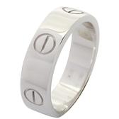 Cartier 卡地亞 Love Ring 18K白金戒指 #54 【二手名牌BRAND OFF】