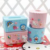 塑料紙巾盒卡通餐巾紙盒子桌面面巾紙收納盒可愛卷紙筒【免運+滿千折百】