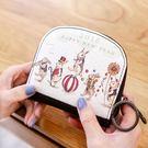 零錢包-韓版可愛印花拉鍊鑰匙包女士女用錢包皮夾-JU420004-FuFu