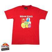 新品2%  2% X 芝麻街 人物登場T恤-紅  春上市