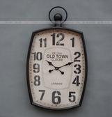 【協貿國際】黑色大掛鐘客廳別墅會所樣板間裝飾掛鐘