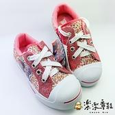 【樂樂童鞋】【台灣製現貨】冰雪奇緣公主帆布鞋 F014 - 現貨 台灣製 女童鞋 大童鞋 休閒鞋 帆布鞋