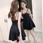 露背吊帶抹胸連身裙性感夜店女裝禮服  創想數位