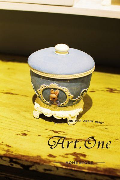 ART ONE 居家設計館 AM02033彼得兔北歐風古典置物罐