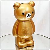金屬金色生日小熊造型存錢筒