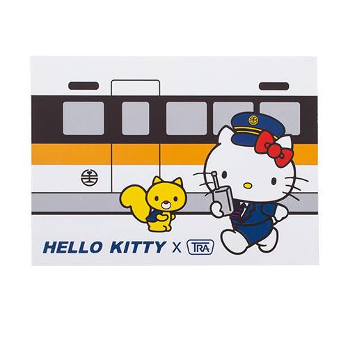 《Sanrio》HELLO KITTY*台鐵太魯閣號-特色景點明信片(台北)★funbox生活用品★ RD00362