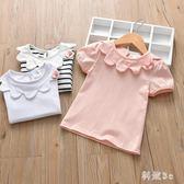 女寶寶短袖t恤1-2-3-4-5歲女童夏裝中童上衣夏天小女孩娃娃衫棉質 aj12114『科炫3C』