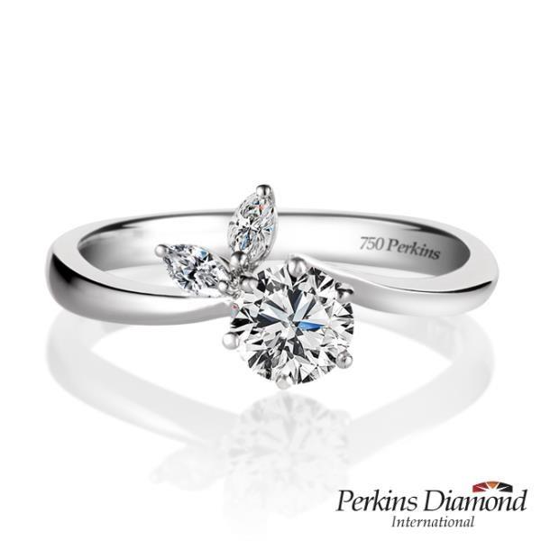 【南紡購物中心】GIA PERKINS 伯金仕 Glory系列 鑽石戒指