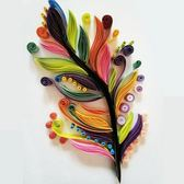 折紙 禮品摺紙衍紙材料包 紙藝畫工具套裝 衍紙條 復古羽毛線稿圖 手工diy-凡屋