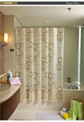 環保防水防浴簾/送挂鈎  200*220cm 變形方塊 可定做【藍星居家】
