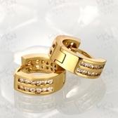 耳環 玫瑰金純銀 鑲鑽-時尚亮麗魅惑誘人生日情人節禮物女飾品2色73bu14【時尚巴黎】