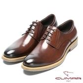 CUMAR 成熟穩重 舒適胎牛皮正式皮鞋-咖胎牛色