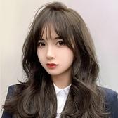 整頂假髮(真髮)-韓式蓬鬆波浪捲長髮女假髮2色74ah9[時尚巴黎]