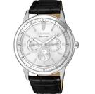 CITIZEN 星辰 光動能 經典三眼設計手錶 (BU2071-01A) / 44mm