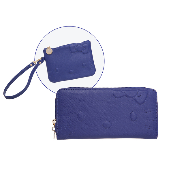 Hello Kitty - (買夾送零錢包) 凱蒂甜心-皮夾&零錢包兩件組-藍 FPKT0A001NY_FPKT0A002NY