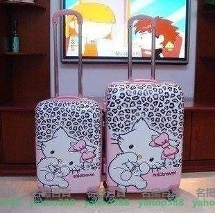 W百貨Kitty貓20寸兒童拉桿箱24寸旅行箱 凱蒂貓ABS可愛卡通行李箱托MY~465