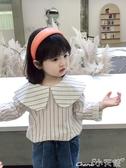 女童襯衫女童春裝2020新款潮酷上衣不規則洋氣小童襯衣兒童寶寶名媛襯衫 1件免運