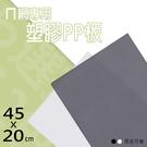 收納架/置物架/波浪架【配件類】45x20公分 ㄇ網專用PP塑膠墊板 兩色可選 dayneeds