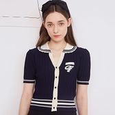 小熊短袖針織開衫薄款上衣T恤衫洋氣減齡溫柔穿搭女N2F-A10-A胖妞衣櫥