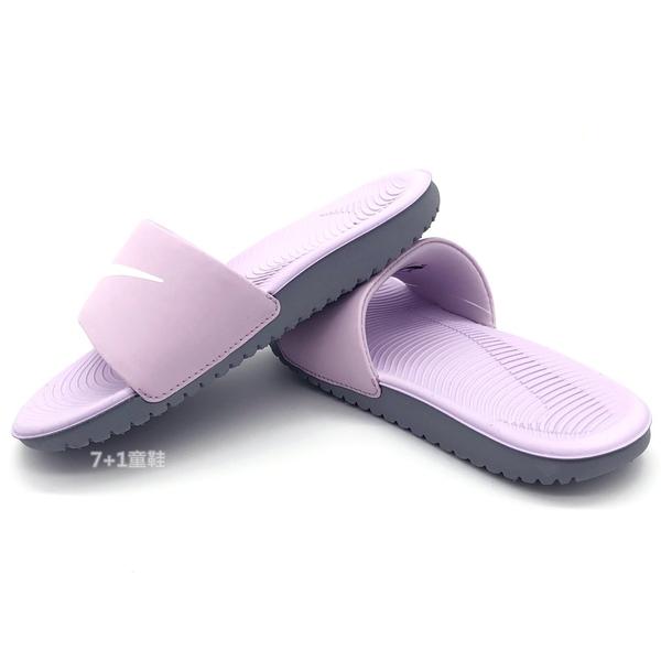 《7+1童鞋》NIKE Kawa Slide 黑灰撞色 親子款 輕量 拖鞋 G879 粉色
