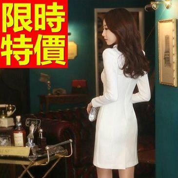 OL套裝(長袖裙裝)-面試上班族有型韓版職業制服2色59q37[巴黎精品]