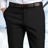 西裝褲 西褲男修身免燙西裝褲加絨商務正裝黑色西服褲子男職業休閒長褲子  蘑菇街小屋