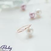 戒指 韓國直送‧氣質水鑽螺紋戒指-Ruby s 露比午茶